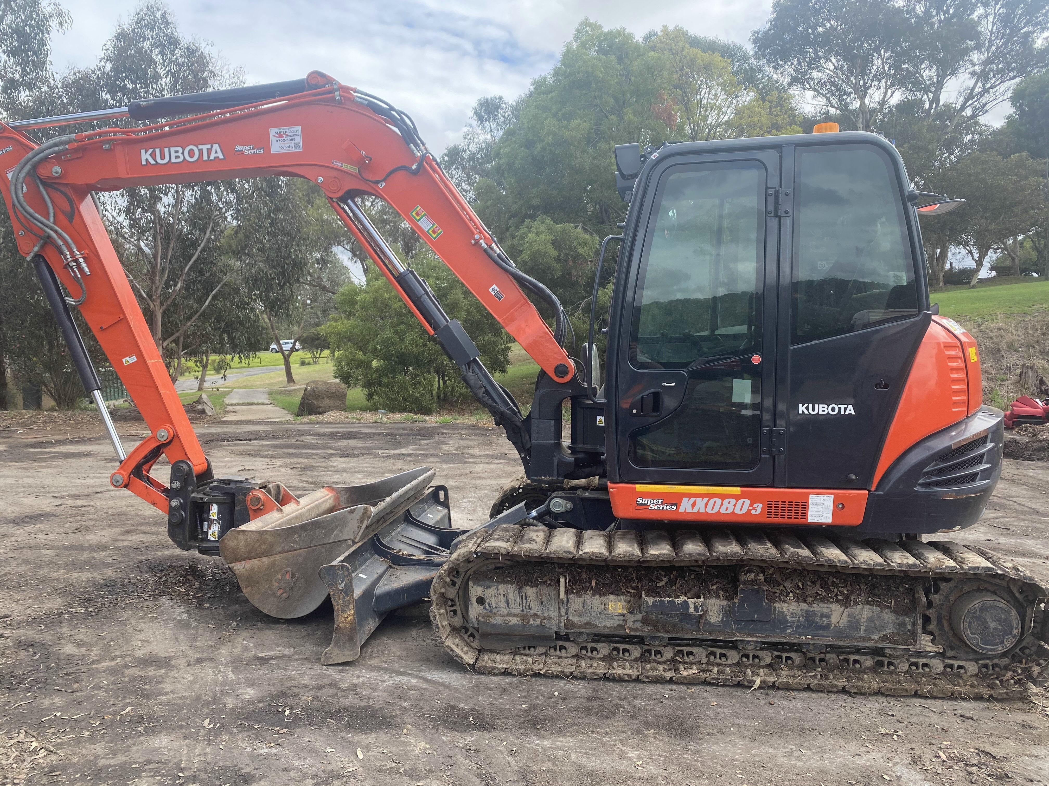 Site Cleanup - Excavator 1
